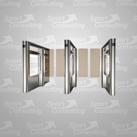 PASILLO-CRISTAL-S&C-SWING-GATE-control-acceso-automatico